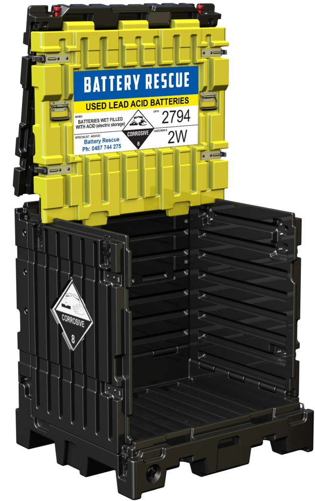 UniSeg Pallet for regulation compliant UPS Battery Recycling