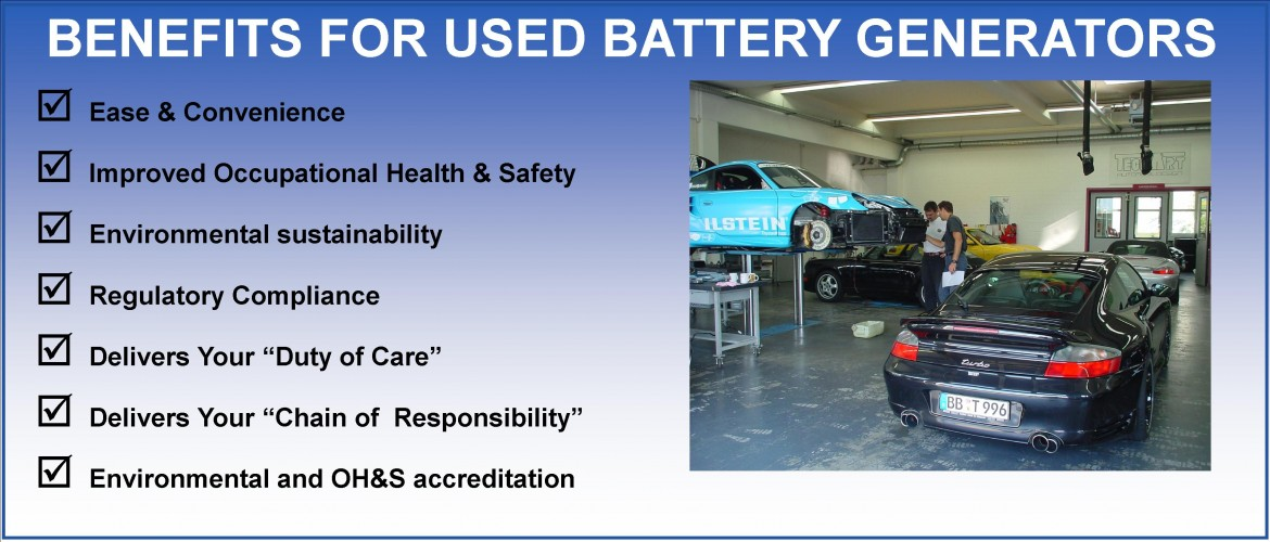 Benefits of Battery Collection Service for Used Battery Generators