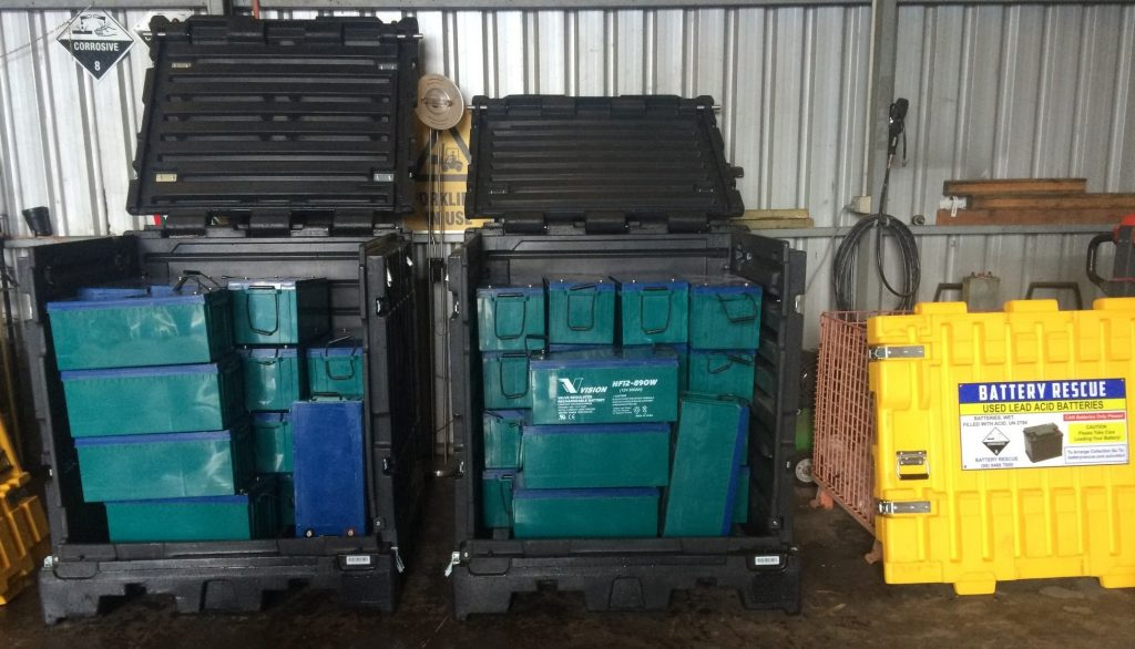 UNISEG Pallet Used For UPS Battery Refresh Project