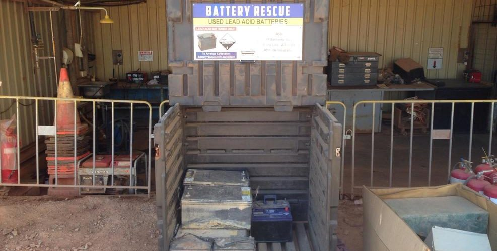 Macmahon Used Battery Collection - Telfer Mine Site