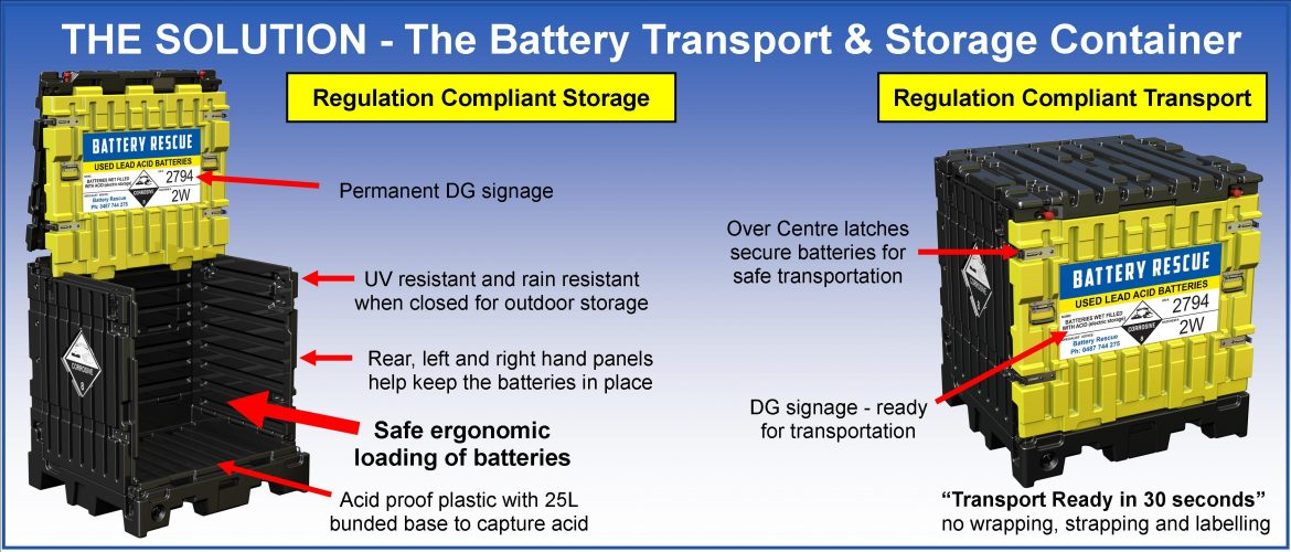 Battery Transport & Storage Container Features