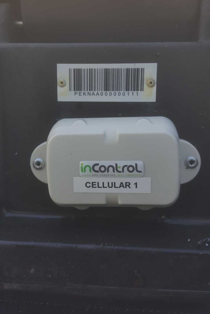 GPS Tracking Device fitted to BTS Container