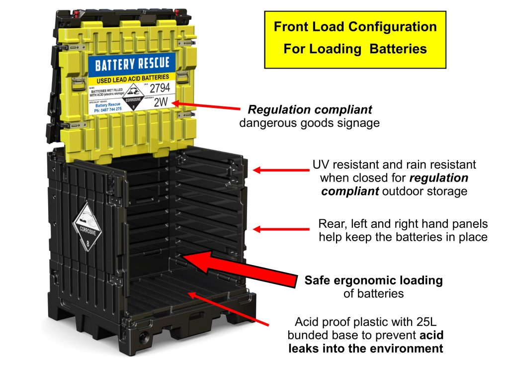 Lead Acid Battery Storage Container